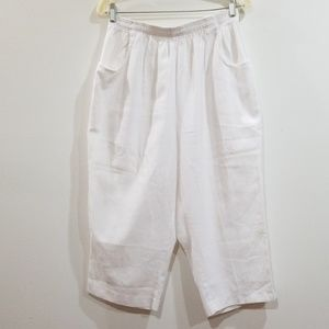 Cabin creek women's white size 14 capri pants